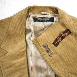 NWT 42R Brooks Brothers Vintage Tan Corduroy COAT